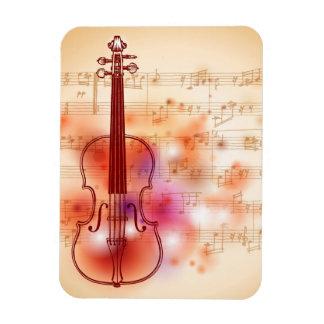 Dibujo en el fondo de la acuarela del violín imán