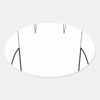 Dibujo encapuchado de la camisa del jersey pegatina ovalada