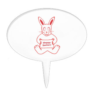 Dibujo feliz de Pascua del conejito lindo en Decoraciones Para Tartas
