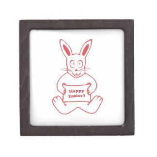 Dibujo feliz de Pascua del conejito lindo en Caja De Joyas De Calidad