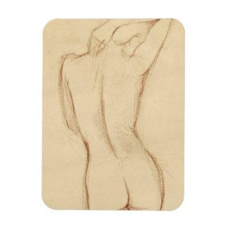 Dibujo femenino desnudo derecho imán flexible