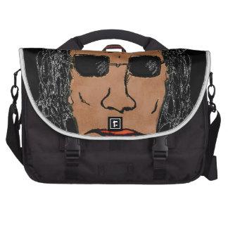 Dibujo fresco del hombre de la estrella del rock bolsas de portatil