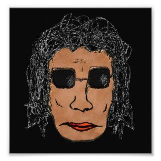 Dibujo fresco del hombre de la estrella del rock fotografías
