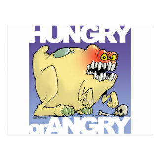 dibujo humorístico, monster-hungry-OR-angry Postales