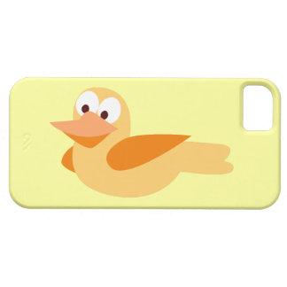 Dibujo infantil divertido pato  volando iPhone 5 Case-Mate cárcasas