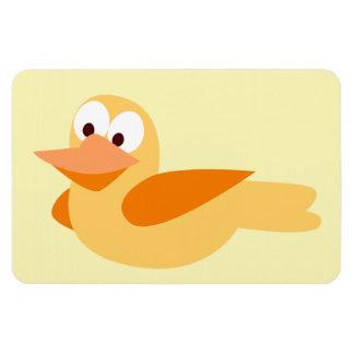 Dibujo infantil divertido pato volando imanes de vinilo