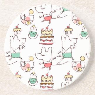 Dibujo lindo del cocinero de la panadería de los r posavasos manualidades