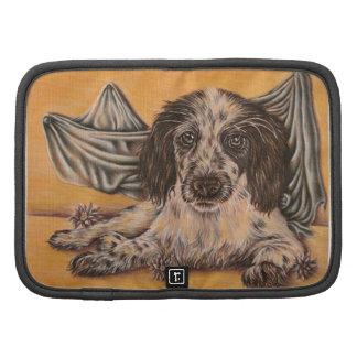 Dibujo lindo del perro del perro de aguas planificadores