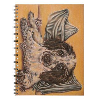 Dibujo lindo del perro del perro de aguas notebook