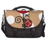 Dibujo lindo personalizado de la mariquita bolsas de portátil
