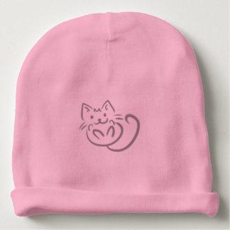 Dibujo lineal de gato del gatito gorrito para bebe