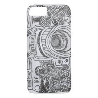 Dibujo lineal de la cámara funda iPhone 7