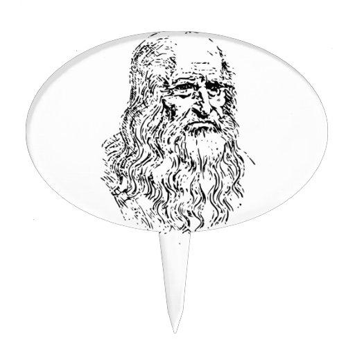 Dibujo lineal de Leonardo da Vinci Figuras De Tarta