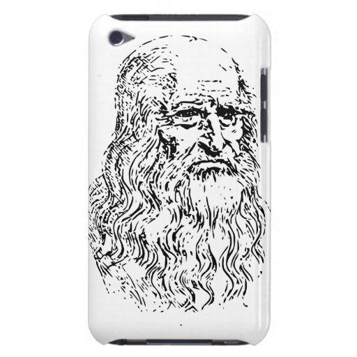 Dibujo lineal de Leonardo da Vinci iPod Case-Mate Fundas