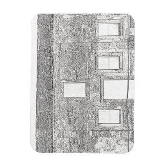 Dibujo lineal de Windows del fuerte de St Augustin Imanes De Vinilo