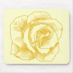 Dibujo lineal del rosa amarillo alfombrilla de raton
