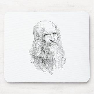 Dibujo lineal sabio del viejo hombre tapete de raton