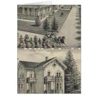 Dibujo litografiado residencias del arbolado tarjetón