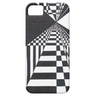 Dibujo minimalista blanco y negro de la tinta iPhone 5 carcasa