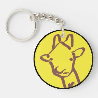 dibujo minimalista de la jirafa llaveros