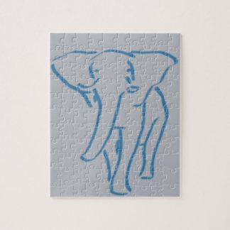 dibujo minimalista del elefante rompecabezas