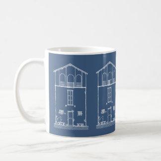 Dibujo minúsculo del modelo de la casa taza clásica