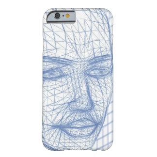 Dibujo modelo azul 3D de la caja del teléfono de Funda Barely There iPhone 6