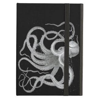 Dibujo náutico de Kraken del vintage del pulpo de
