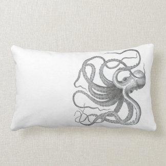 Dibujo náutico del libro del vintage del pulpo del almohada