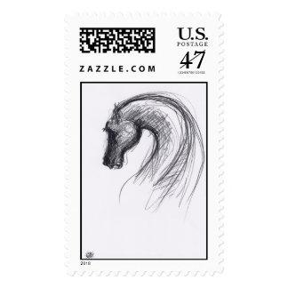 Dibujo original - caballo - año 2014 del caballo sellos