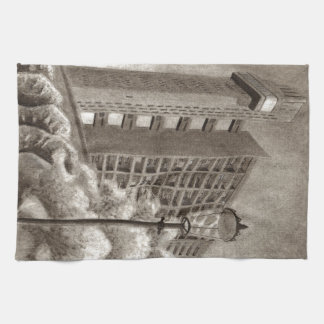 Dibujo original de la torre de Trellick Toalla De Mano