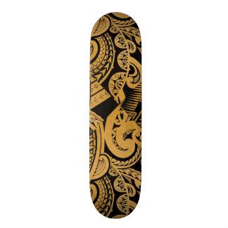 dibujo original del tatuaje en el estilo de madera patineta personalizada