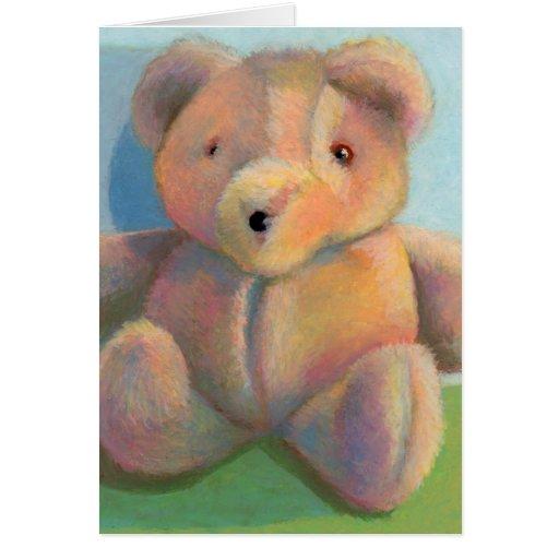 Dibujo original relleno del arte del peluche lindo tarjeta de felicitación