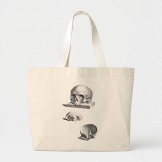 Dibujo ortopédico del cráneo y de los huesos bolsa tela grande