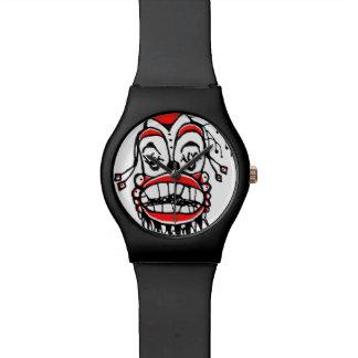 Dibujo oscuro del payaso relojes de mano