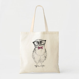 Dibujo pequeño y elegante del Owlet   Nerdy de la Bolsa Tela Barata
