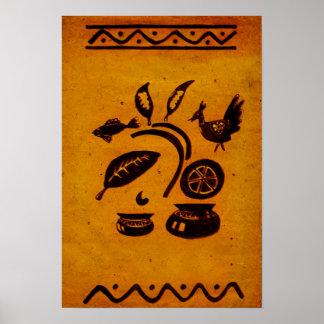Dibujo popular de Bangladesh del vintage Póster