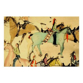 Dibujo primitivo del arte popular del vintage de l posters