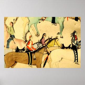 Dibujo primitivo del arte popular del vintage de l impresiones