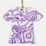 Dibujo púrpura de la tinta del mundo púrpura de ar ornato