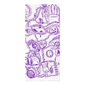 Dibujo púrpura de la tinta del mundo púrpura de ar lonas