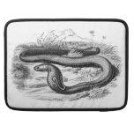 Dibujo retro de las cobras de la serpiente de la funda para macbook pro
