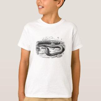 Dibujo retro de las cobras de la serpiente de la playera