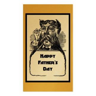 Dibujo retro de padre del vintage feliz del día tarjetas de visita
