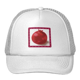 Dibujo rojo lindo de la granada gorras de camionero