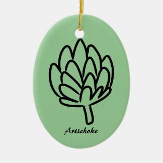 Dibujo simple de la alcachofa ornamentos de reyes
