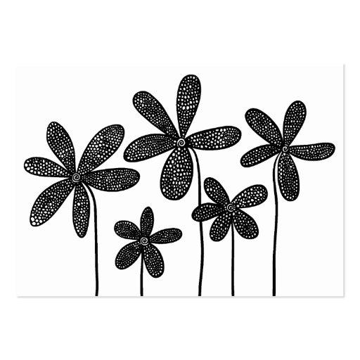 Dibujo simple de las flores tarjetas de visita grandes