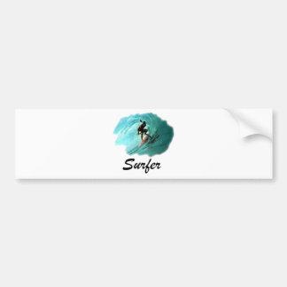 dibujo-surf_6 car bumper sticker