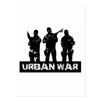 dibujo urban war postal