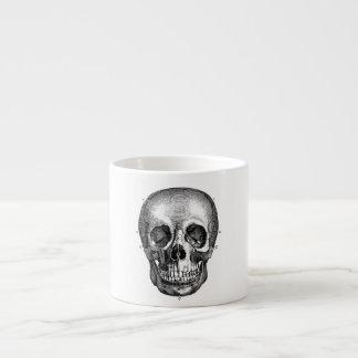 Dibujo viejo anatómico retro del cráneo de los 180 taza espresso
